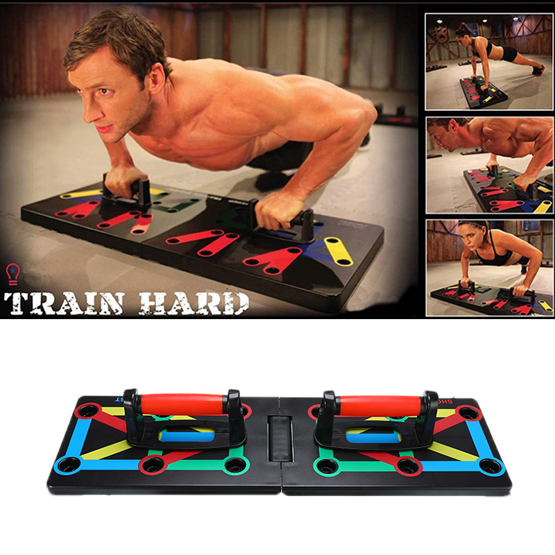 1 Set Push Up Rack Board 9 In 1 Body Building Fitness Exercise Tool Push-Ups Stand For Men Women Body Fitness Tools
