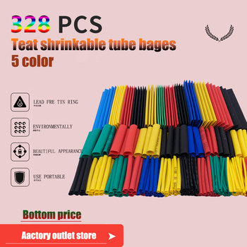 цена на 70/140/328/560pcs  Heat Shrink Tube able sleeve tubing Polyolefin tube heat shrinkable tube tiks Insulated Thermoresistant tube
