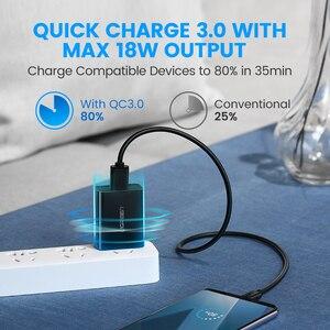 "Image 2 - Ugreen מהיר תשלום 3.0 QC 18W ארה""ב בריטניה USB מטען QC3.0 מהיר מטען עבור סמסונג s10 Xiaomi iPhone Huawei טלפון נייד מטען"
