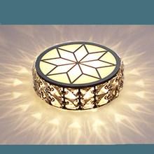 Moda kryształowe żyrandole sufitowe led energooszczędne lampy led okrągły kryształowy żyrandol salon oświetlenie led do pokoju lustre żyrandole oświetlenie tanie tanio ULMXI CN (pochodzenie) Klin Brak 110 v 120 v 130 v 220 v 230 v 240 v 260 v 110-240 v 90-260 v Shadeless Montażu podtynkowego