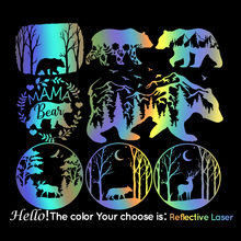 Large Bear Mountain Car Stickers Vinyl Deer Car Styling Auto Engine Cover Door Window Animal Car Decal Mural