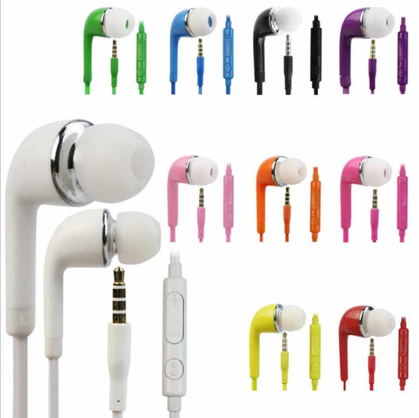 Wysokiej jakości 3.5mm douszne słuchawki douszne stereo słuchawki douszne z mikrofonem do samsung galaxy S4 J5 Iphone Sony telefon xiaomi