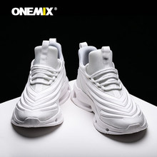 ONEMIX Men Running Shoes White Sports Shoes Shock Absorption Cushion Athletic Sneakers Casual Outdoor Shoes jogging shoes(China)