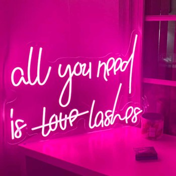 All You Need Is Lashes Neon Sign
