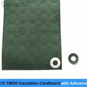 100 шт. 1S 18650 для изоляции аккумулятора картон с клеем для 18650 аккумуляторной батареи изоляционный клей патч положительный 2020