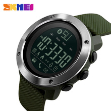 SKMEI Fashion Smart Watch Men Calories Bluetooth Watches Passometer Call reminder Digital 5Bar Waterproof 1285