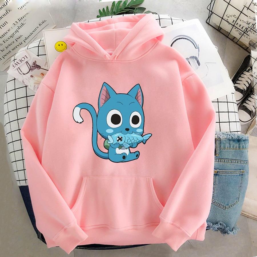Japanese Anime Fairy Tail Hoodie Women Hoodies Casual Pullover Hoodied Harajuku Sweatshirt Plus Size Hoody 11