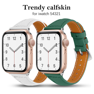 Genuine Leather band for Apple Watch 6 5 4 3 2 iwatch 38mm 40mm 42mm 44mm woman Bracelet smart watch Accessories loop