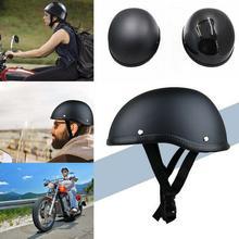 Motorcycle Helmet ABS Matte Half Face Helmet ABS Black Retro Personality German Style Motorcycle Helmet Universal