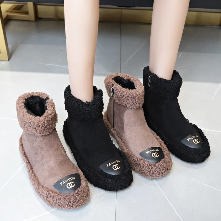 Women Boots 2019 New Plush Snow Boots For Winter Shoes Women Casual Lightweight Ankle Botas Mujer Warm Winter Boots Female 63