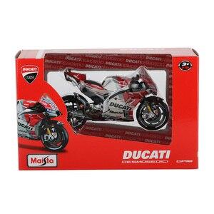 Image 5 - Maisto 1:18 motosiklet modeli oyuncak alaşım araba yarışı dağ motosiklet Desmosedici No.4 Motocross oyuncaklar çocuklar için koleksiyon