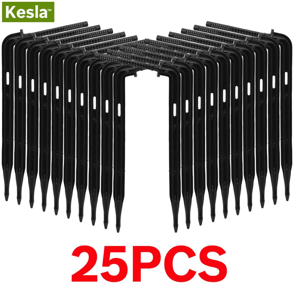 KESLA 25PCS Bend Arrow Dripper Micro Drip Irrigation Kit Emitters For 3/5mm Hose Garden Watering Saving Micro Dripper Greenhouse