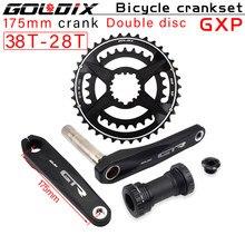 Fahrrad kurbel neue GOLDIX MTB Bike GXP Kurbel Aluminium Legierung Mit Boden Kurbel170crank platte rot 32T34T36T38T cnc kurbel