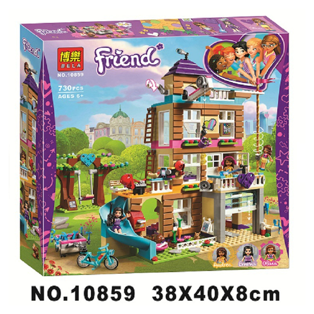 10859 Compatible Legoinglys Friends 730Pcs toys for children Girls Series Friendship House Set Building Blocks Bricks Kids Gifts 1