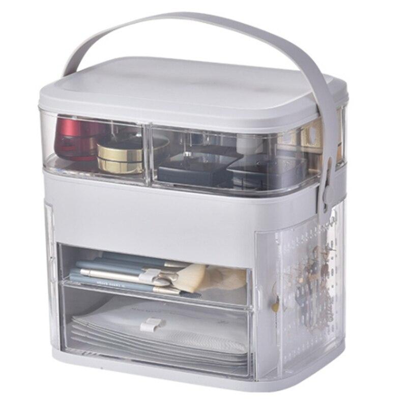 Multifonctionnel cosmétique bijoux bacs de rangement Transparent maquillage organisateur acrylique boîte à bijoux tiroir organiseur de bureau