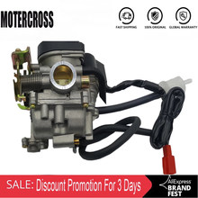 Carburador da motocicleta do carb cvk do furo grande de 20mm para o chinês gy6 50cc 60cc 80cc 100cc 139qmb 139qma scooter ciclomotor atv go-kart