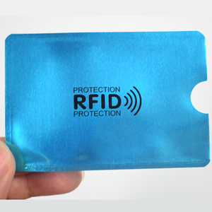 Image 5 - 10 Stks/partij Anti Rfid Blocking Reader Lock Bank Kaarthouder Id Bank Card Case Rfid Bescherming Metalen Credit Kaarthouder aluminium