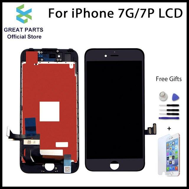 Per il iPhone 7 Plus LCD Display Touch Screen di Ricambio OEM anticipo incell di alta qualità con strumento gratuito 4.7 5.5 pollici ecran