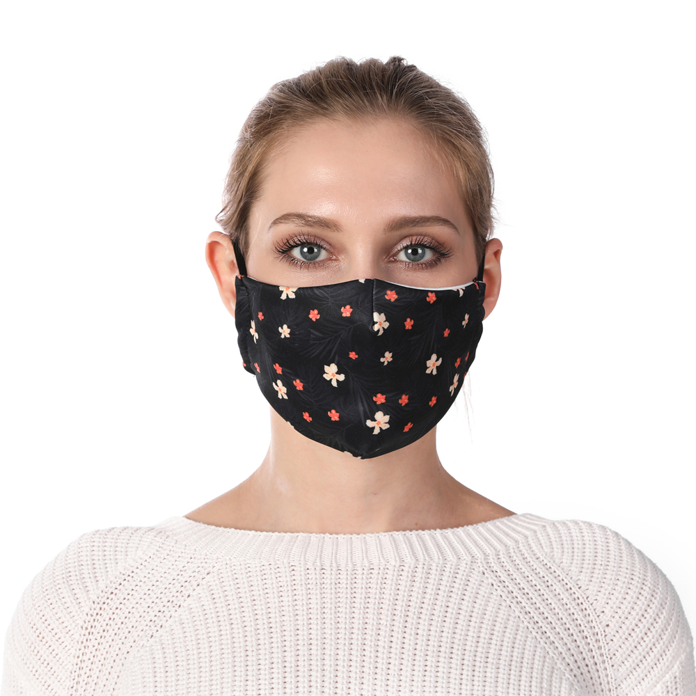 Zohra Floral Printing Face Mask Reusable Protective PM2.5 Filter Mouth Mask Anti Dust Mask Windproof Adjustable Face Masks