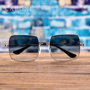 Image 3 - CAPONI Fashion Square Polarized Sunglasses Women 2020 New Brand Design Metal Frame Big Sun Glasses Gradient Lenes Oculos CP1971