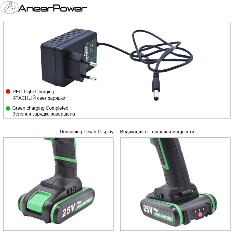 Tools : Professional 25V Batteries Cordless Drill Mini Electric Battery Screwdriver Power Tools Drilling  Tighten and Loosen The Unscrew