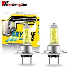 2pcs Yellow Halogen Bulbs H1 H3 H4 H7 H8 H9 H11 HB3 HB4 Auto Halogen Lamp Fog Lights 55W 12V 3000K Motorcycle Car Headlight Lamp