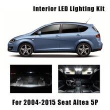Kit de lâmpadas led com mapa de interior, canbus, sem erro, 2004-2015, seat altea 5p, 13 peças lâmpada da matrícula 5p1 5p5 5p8