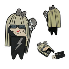 Lady GaGa Modell Kreative Geschenk USB2.0 4GB 8GB 16GB 32GB 64GB 128 256 gb Stift stick Memory Stick Göttin idol cle usb-Stick