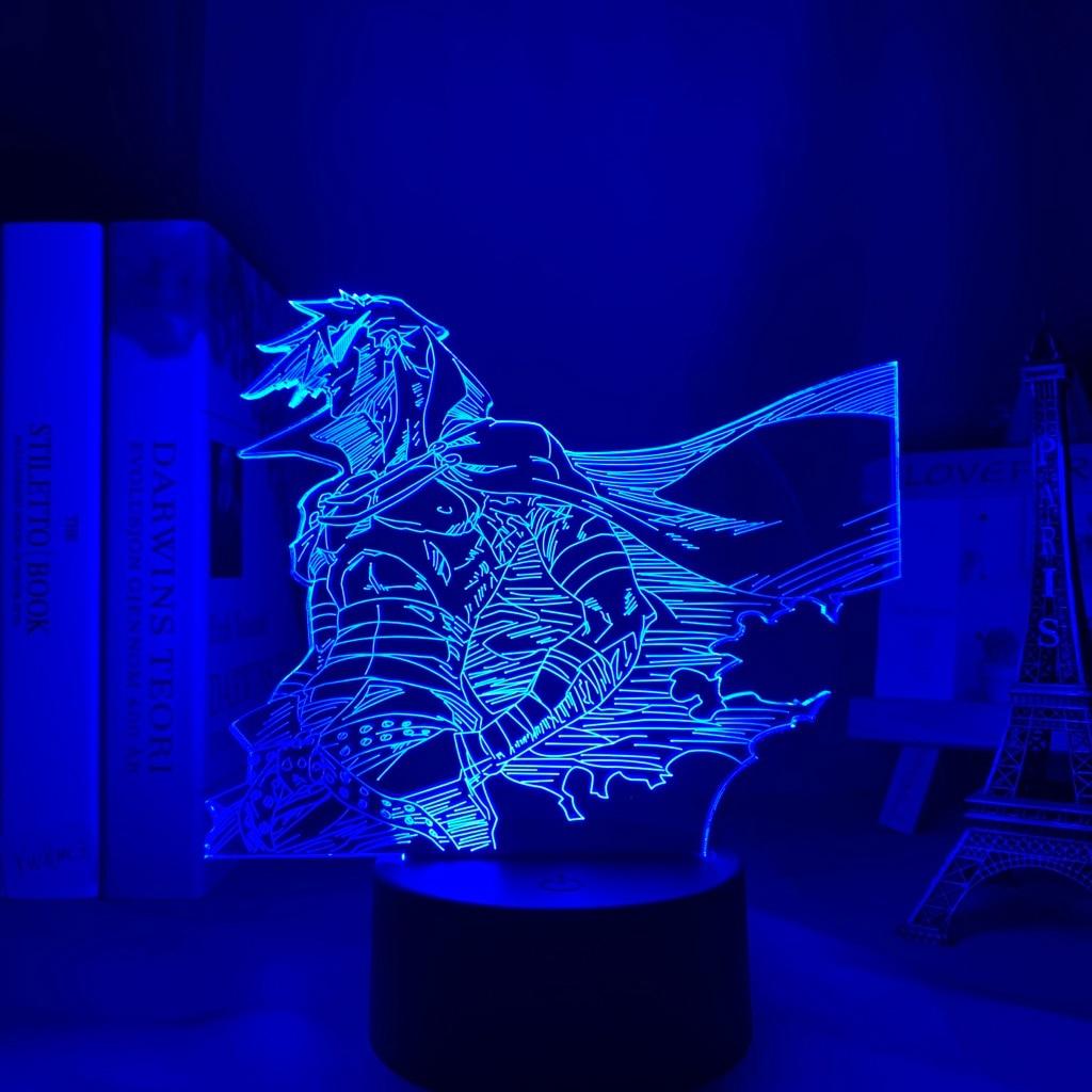 H433d95c98b2c4223af743489df255e28F Luminária Anime gurren lagann kamina conduziu a luz da noite para o quarto decoração presente de aniversário noite lâmpada kamina luz gurren lagann gadget