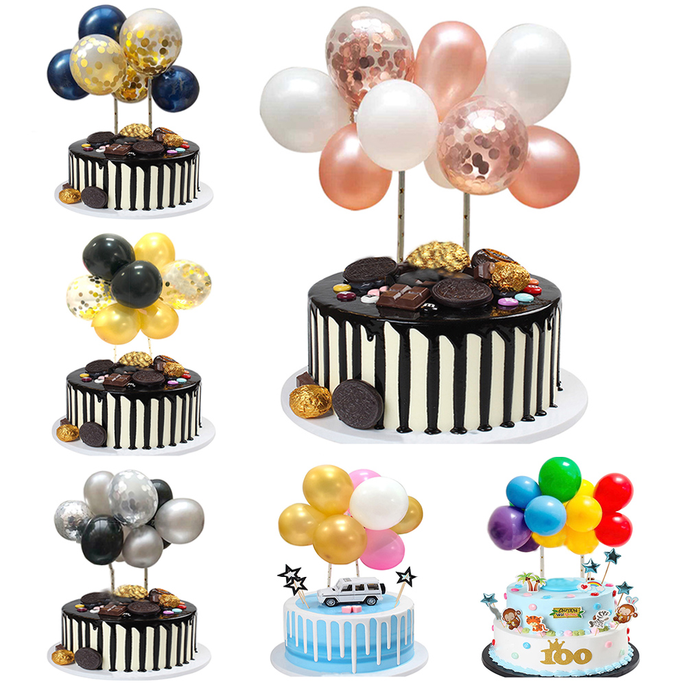 Prime 1Set 5Inch Mini Confetti Balloon Cake Toppers Birthday Party Funny Birthday Cards Online Fluifree Goldxyz
