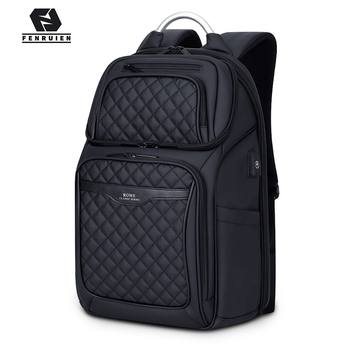 Fenruien Business Travel Backpack Men Multifunction Large Capacity Backpacks USB Charging 17 Inch Laptop Backpacking Mochila fenruien brand 17 inch laptop backpack men usb charging travel backpacking school bag nylon waterproof anti theft backpacks