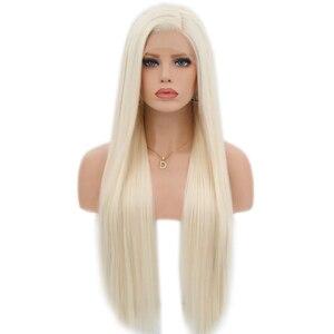 Image 2 - Парик Из прямых синтетических волос Charisma, шелковистые парики #60 блонд, термостойкие парики с натуральными волосами для женщин