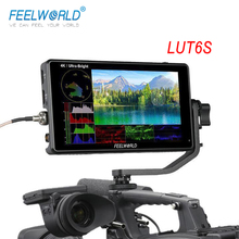 FEELWORLD LUT6S 6 Inch DSLR Camera Field Monitor 3D LUT HDR Touch Screen Waveform 3G SDI 4K 1920x1080 Display Camera Monitor