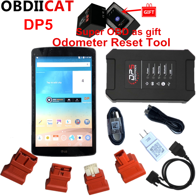 OBDIICAT Newest SUPER DP5 Android Diagnostic Tools Dp 5 OBDII Diagnosis +Key Programmer+Mileage Correction Reset Tool-in Auto Key Programmers from Automobiles & Motorcycles on