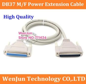 Alta Qualidade DB37 masculino para feminino cabo de extensão de energia cabo 37pin feminino expansão 10 37pin macho para DB DB pçs/lote