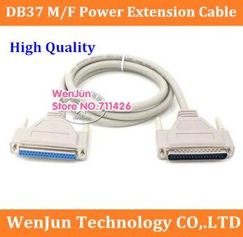 Cable de extensión de alimentación de alta calidad DB37 macho a hembra DB 37pin macho a DB 37pin cable de expansión hembra 10 unids/lote