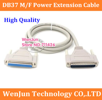 High Quality DB37 male to female power extension cable DB 37pin male to DB 37pin female expansion cable 10pcs/lot