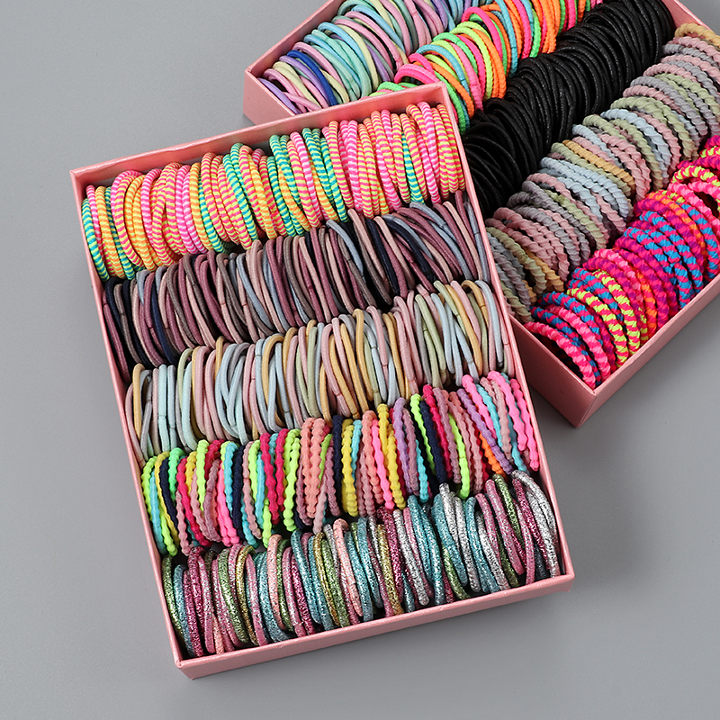 New 100pcs/lot Hair Bands Girl Candy Color Elastic Rubber Band Hair Band Child Baby Headband Scrunchie Hair Accessories For Hair