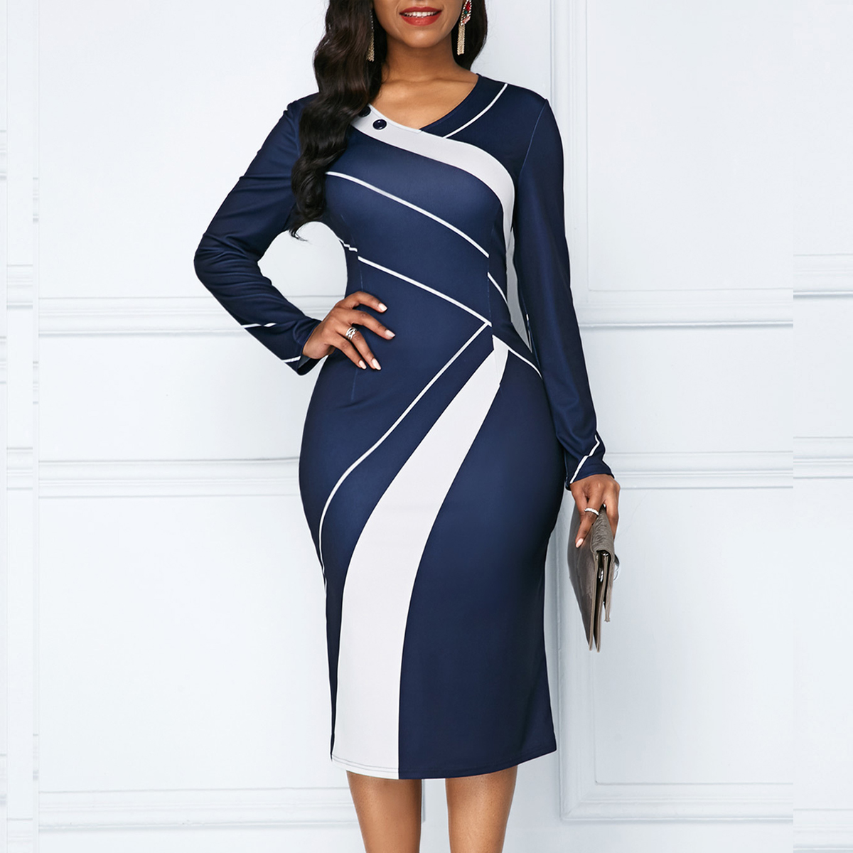Autumn Winter Casual Plus Size Women Dress