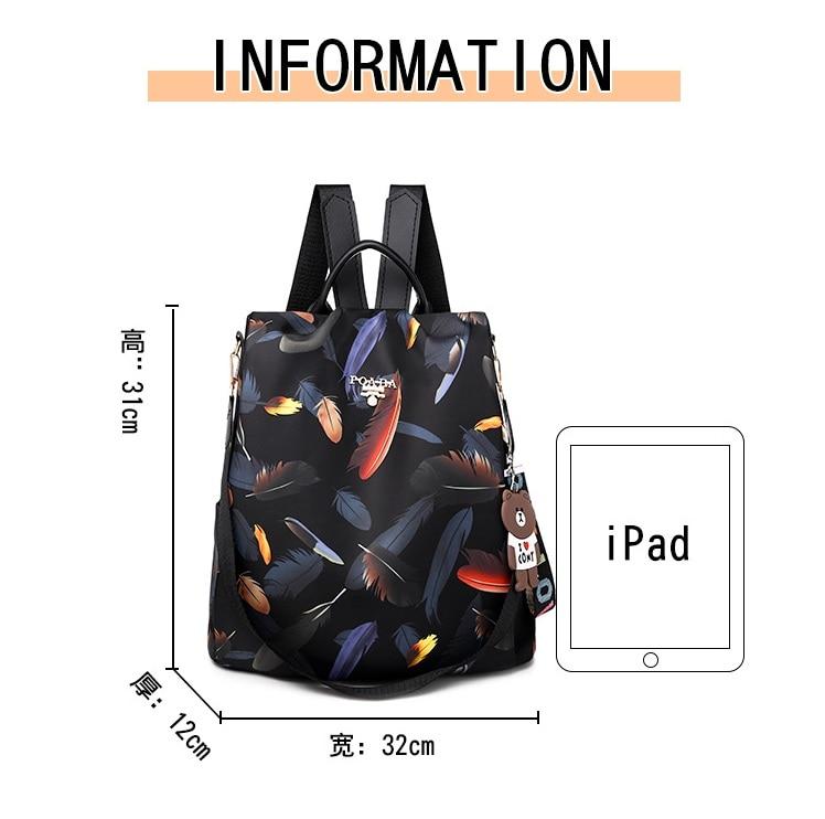 H433e0dee3519432fb27dc630e3653468Z 2019 New Women Backpacks Vintage Korea Brand Design Bag Travel Anti Theft Backpack Nylon High Quality Small Rucksack ZZL188