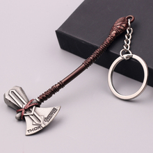 Marvel the Avengers 4 Endgame Thor Stormbreaker Keychain Cosplay Accessories Metal Key Chain Keyring Weapon Storm ax