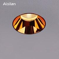 Aisilan Hot Design COB Trimless Adjustable Recessed Led Downlight Commercial indoor Spot Light lighting