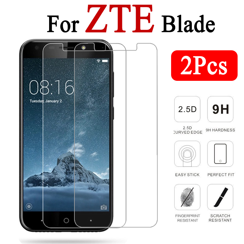 2pcs/lot Protective Glass On For Zte Blade A520 A510 V7 Lite Screensaver A512 Tempered Glas V 7 A 520 510 512 V7lite Armor Film