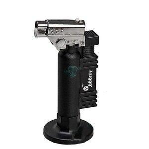 Image 2 - 黒歯科用器具ブタンガスマイクロトーチバーナー溶接はんだ銃ライター炎溶接機防風
