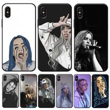 Music Singer Star Billie Eilish Cover for iPhone X XS MAX XR 7 8 6 6S plus 5S SE Clear Soft Silicone Phone Case(China)