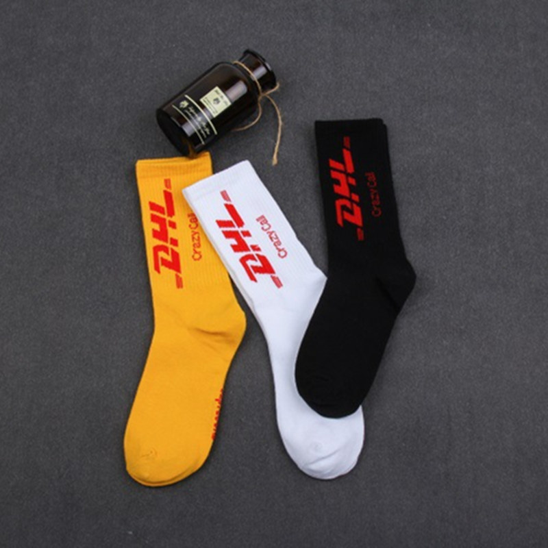 Street Fashion Stockings Pop Hip-hop Skateboard Harajuku Letter DHL  Men And Women Stockings