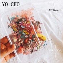 Yo cho 10 tipos embalado flor seca, acessórios diy, seco, aromaterapia, vela, colar, de resina epóxi, fabricação de jóias, flor artesanal