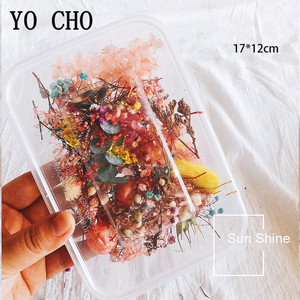 YO CHO 10 Kind Boxed Dried Flower DIY Accessories Dry Aromatherapy Candle Epoxy Resin Pendant Necklace Jewelry Making Craft Flor