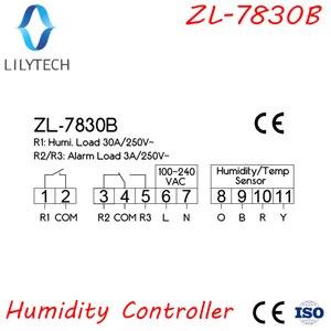 Image 3 - ZL 7830B, 30A relais, 100 240Vac, Digital, Feuchtigkeit Controller, Hygrostat, mit Alarmierend ausgang, Lilytech
