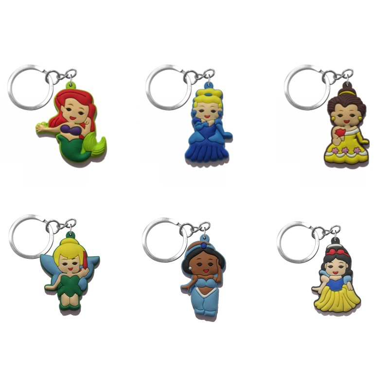 20pcs lot Pretty Keychains Mini Anime PVC Key Ring for Girls Kids Gift Key Chain Key Holder Party Favor Fashion Trinket in Key Chains from Jewelry Accessories
